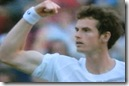 2008 Wimbldeon - Andy Murray Shows Muscles after Beating Gasquet