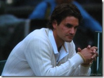 2008 Wimbldeon - Federer Contemplates Loss to Rafael Nadal
