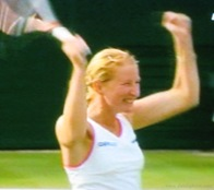 2008 Wimbldeon - Jubulent Kudryavtseva after beating Sharipova