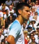 2008 Wimbldeon - Novak Djokovic upset as he is about to loose to Marat Safin