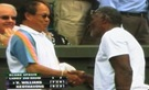 2008 Wimbldeon - Two Wimbledon Fathers Shake Hands - Richard Williams and Mr. Keothavong