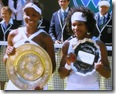 2008 Wimbldeon - Venus and Serena Williams hold Trophies - Plates