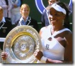 2008 Wimbldeon - Venus Williams holds Trophy - Plate