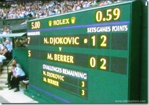 2008 Wimbldeon - new electronic score boards
