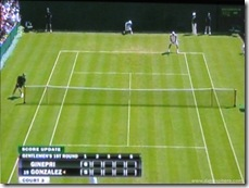 2008 Wimbldeon - old on-screen scoring system