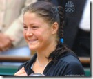 2009 french open - dinara safina all smiles at trophy ceremony