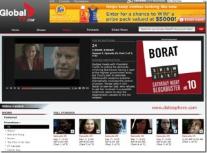 Canada's Global Network Also Offers Full Primetime TV Episodes Online