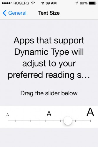 Best iOS 7 Enhhancement - DYNAMIC TYPE