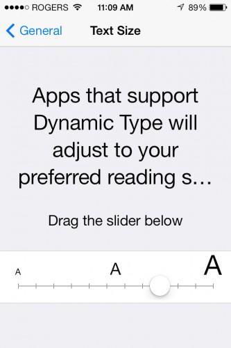 Best iOS 7 Enhhancement - DYNAMIC TYPE