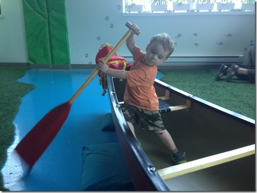 Zach in Canoe - Discovery Center