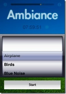 ambiance iPhone screen shot