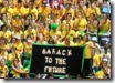 australian open 2009 - barack to the future - Aussie Open fans pose on inauguration day