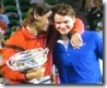 australian open 2009 - nadal comforts federer - puts arm around him