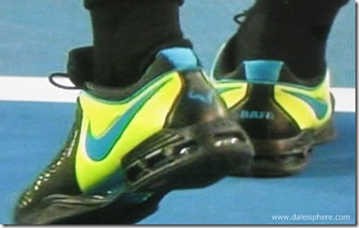 australian open 2009 -  rafael nadal's tennis shoes-sneakers