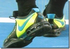 australian open 2009 -  rafael nadal's tennis shoes-sneakers - third view