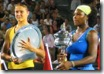 australian open 2009 -  serena williams and dinara safina hold trophies