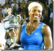 australian open 2009 - serena williams holds trophy