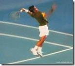 australian open 2009 -  verdasco jumps up to spike a winner