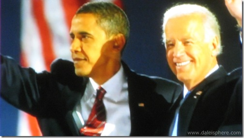 barack obama and joe biden - November 4, 2008 - grant park chicago