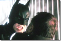 batman begins (2005) - christian bale as batman confronts tom wilkinson