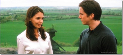 batman begins (2005) - katie holmes and christian bale