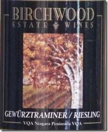 Birchwood Gewürztraminer - Riesling 2007 - front label