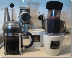 Bodum Chambord vs Aerobie Aeropress - Let the Plunging Begin