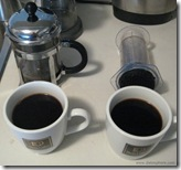 Bodum Chambord vs Aerobie Aeropress - Test 2 - Black Coffee