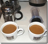 Bodum Chambord vs Aerobie Aeropress - Test 2 - Creamed Coffee