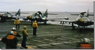 Bridges at Toko-Ri (1954) Jets prepping for takeoff from USS Oriskany