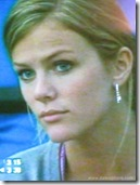 Brooklyn Decker (close up) watching Roddick at 2008 Australian Open