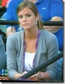 Brooklyn Decker watching Roddick at 2008 Australian Open