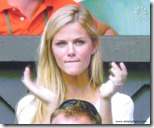 Brooklyn Decker Cheers for Andy Roddick at Wimbledon 2009