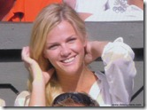brooklyn decker 3 - watching andy roddick - fixing hair 1 - wimbledon 2009