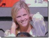 brooklyn decker 4 - watching andy roddick - fixing hair 2 - wimbledon 2009