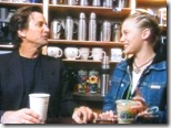 Dirk Benedict (Starbuck from the 1978 Battlestar Galactica) with Katee Sackhoff (Starbuck from 2004 'reimagined' series) at Starbucks 4