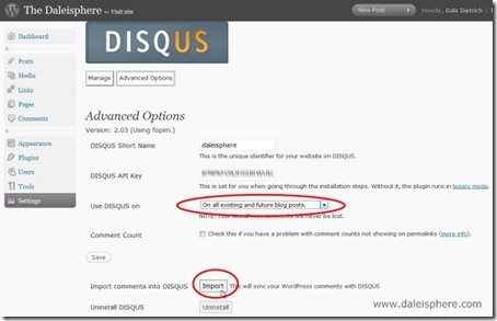 disqus - import comments into disqus