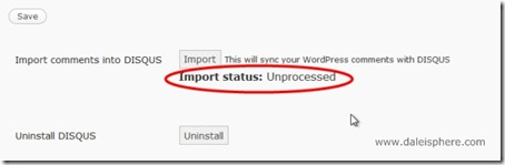 disqus - Import Status - unprocessed