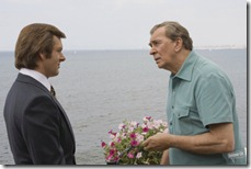 frost - nixon (2008) frank langella and michael sheen at the ocean in san clemente california