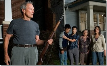 gran torino (2008) - clint eastwood protects his lawn