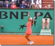 Henin watches Ivanovich in 2008 French Open