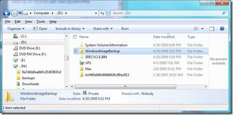 windows 7 image save directory