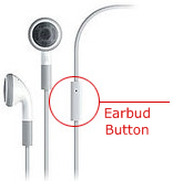 iphone earbud button