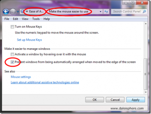How to Shut Off Windows 7 Aero Snap – Stop it from Auto Arranging Windows