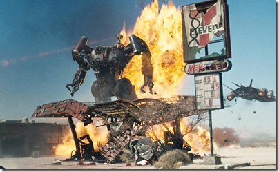 terminator salvation - big robot at 7 eleven