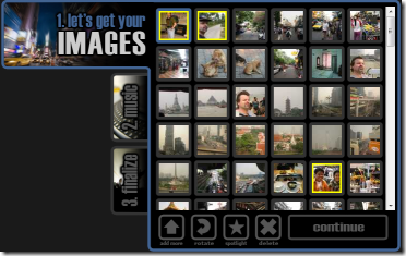 Animoto - Arrange Images