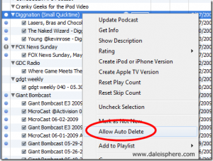 How to Set Podcasts to Auto Delete From Your iPod – Updated March 18 2009
