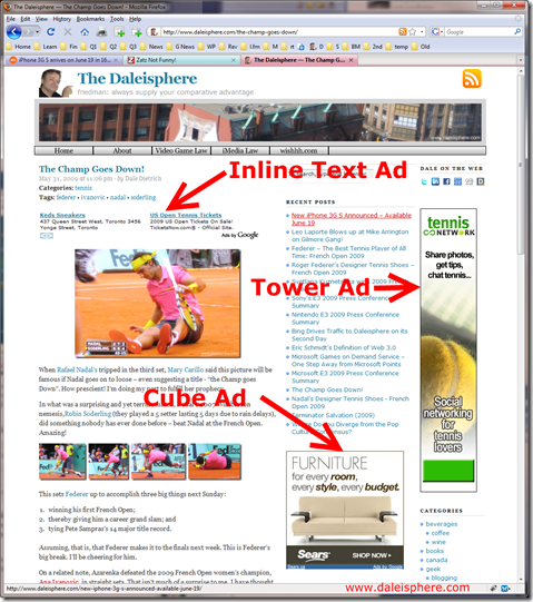 2nd adsense $100 - ad structure on daleisphere
