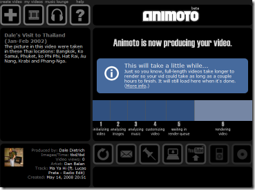Animoto is Now Producing Your Video