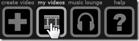 Animoto - My Videos Option